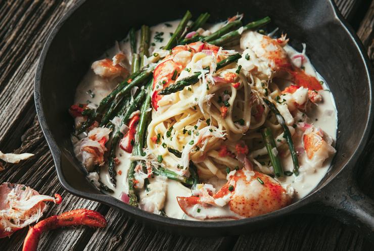 Mijot de homard p tes fra ches et asperges vertes au beurre de corail le must - Cuisiner les asperges vertes fraiches ...