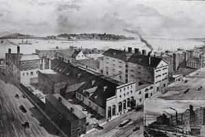La Brasserie Molson à ses débuts, en 1786.