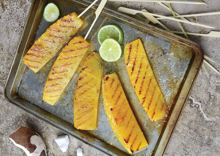 Ananas grillés