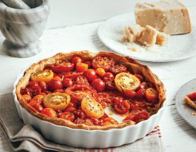 Tarte tomate et basilic